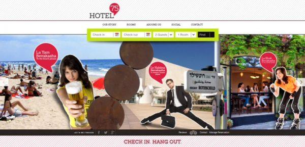 מיתוג ופיתוח קונספט מלון HOTEL 75 - סטודיו To Do